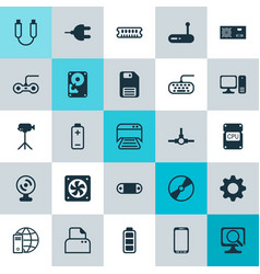 Computer icons set collection of computer keypad vector