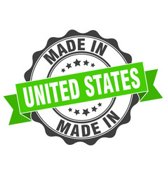 Made in united states round seal vector