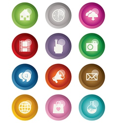 Round web buttons vector
