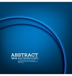 Abstract modern background with blue waves vector