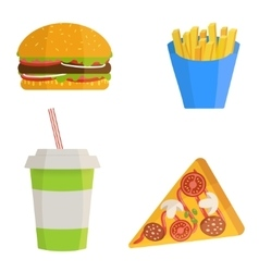 Fast food concept vector