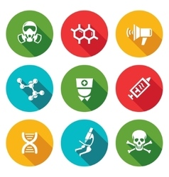 Epidemic protection icons set vector