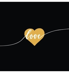 Heart and love lettering design for banner card vector