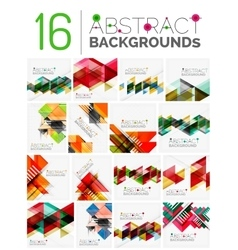 Set of modern geometric abstract shape backgrounds vector