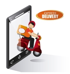 Delivery motorcycle design vector