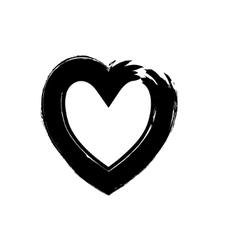 Heart shape symbol love black vector