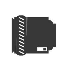 Camera lens icon gadget design graphic vector