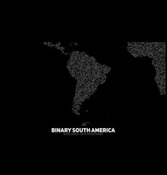 abstract binary south america map vector image