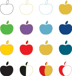 Apples icon vector