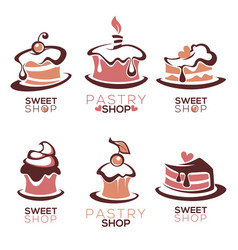 Bakery pastry confectionery cake dessert vector