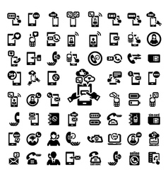 big phone icons set vector image vector image