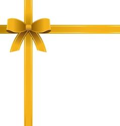 Bow gold ribbon vector