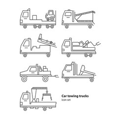 car towing truck roadside assistance vector image vector image