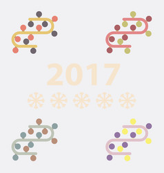 Collection of new year garlands vector