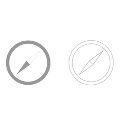 compass set icon vector image