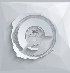 digital futuristic template vector image
