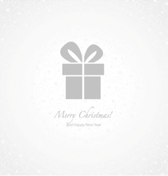 Gray and white paper Christmas background vector image vector image