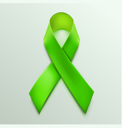 green ribbon sign isolated on white background vector image