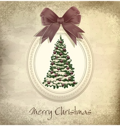 holiday vintage christmas background vector image vector image