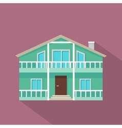 House icon with shadow in flat design vector
