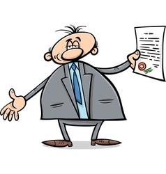 man with diploma cartoon vector image vector image