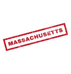 Massachusetts rubber stamp vector