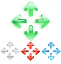 menu arrows vector image vector image