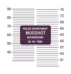Mugshot background template vector image