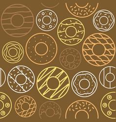 outline doughnut seamless pattern vector image vector image