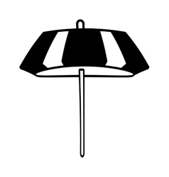 outline umbrella parasol sketch beach vector image