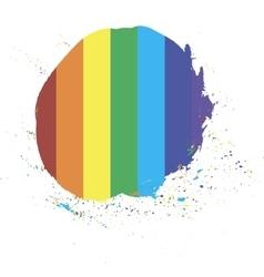 rainbow sign informal gay lesbian vector image
