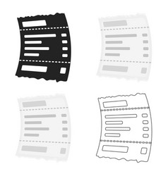 Receipt icon in cartoon style isolated on white vector