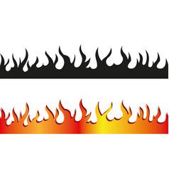 seamless flame border vector image