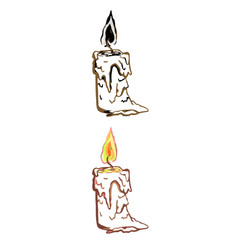 Simple linear of candle vector
