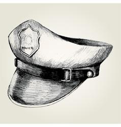 Sketch of a police cap vector