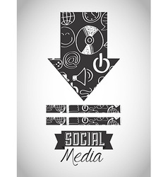 social media design vector image vector image