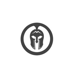 Spartan helmet logo template icon design vector