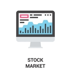 stock market icon concept vector image vector image