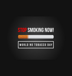 Stop smoking no tobacco day flat vector