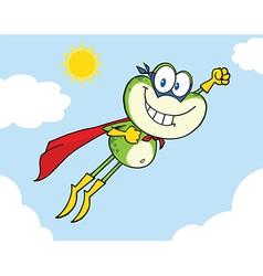 Super frog flying vector