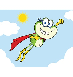 Super frog flying vector image vector image