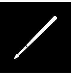 The brush icon Brush symbol Flat vector image
