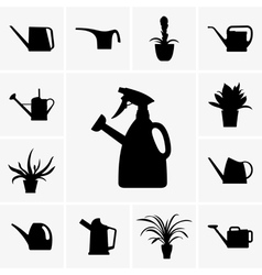 Watering cans vector image vector image