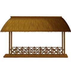 Wooden shade vector