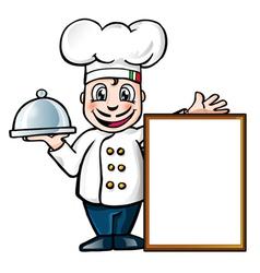 Italian chef vector