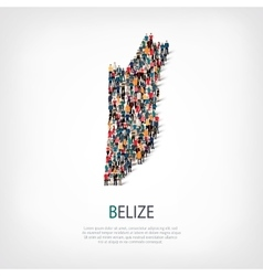 people map country Belize vector image