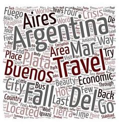 Argentina travel buenos aires mar del plata iguazu vector