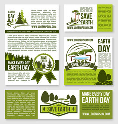 Templates earth day nature protection event vector