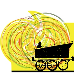 Abstract train vector