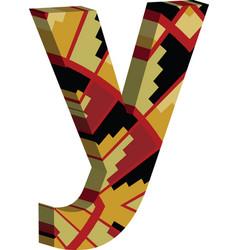 3d font letter y vector
